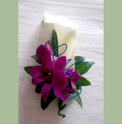 Wedding Flowers Bolton Calla With Orchid Corsage